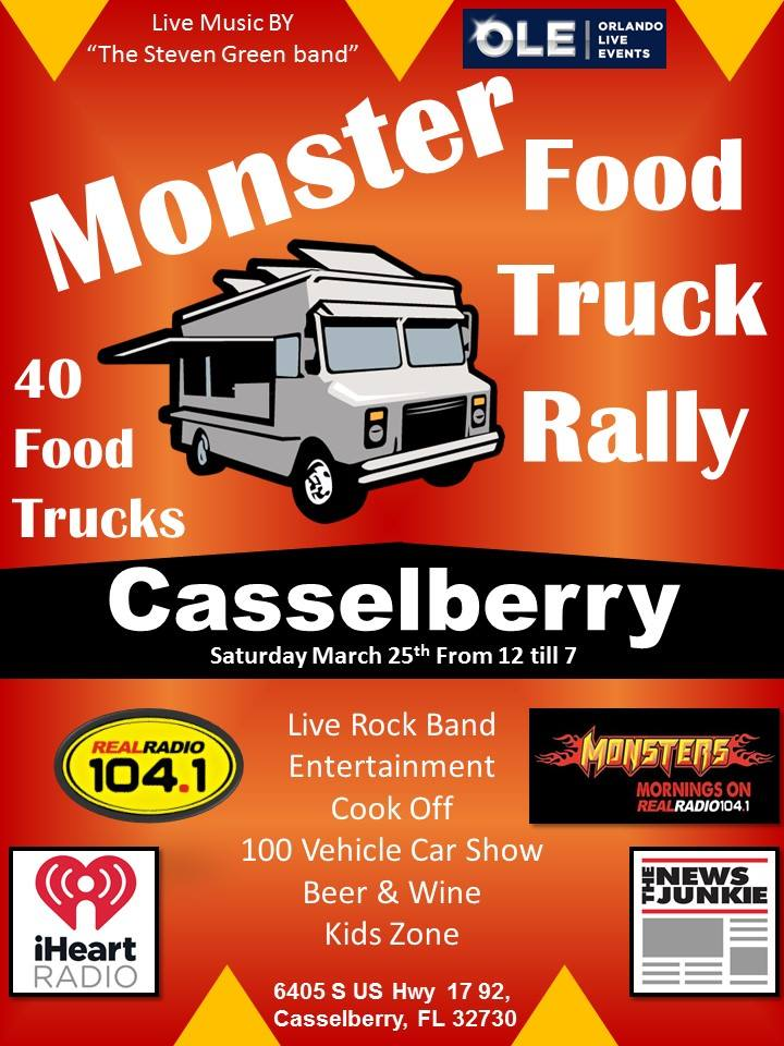 Casselberry Monster Food Truck Rally @ Fern Park   Fern Park   Florida   United States
